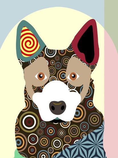 Australian Cattle Dog-Adefioye Lanre-Giclee Print
