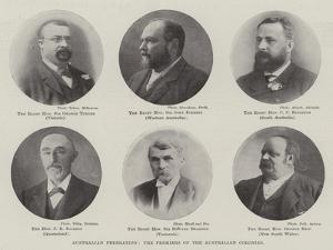 Australian Federation, the Premiers of the Australian Colonies