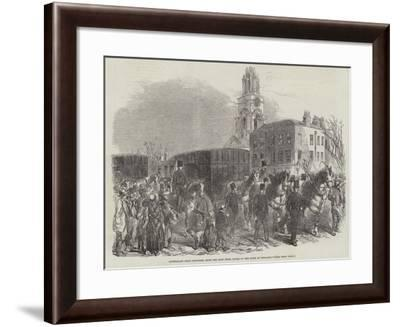 Australian Gold Conveyed from the East India Docks to the Bank of England--Framed Giclee Print
