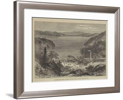 Australian Meat Curing Establishment, Lake Broadwater--Framed Giclee Print