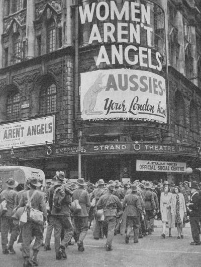 Australian soldiers on a few days leave in London, 1940, (1940)--Photographic Print