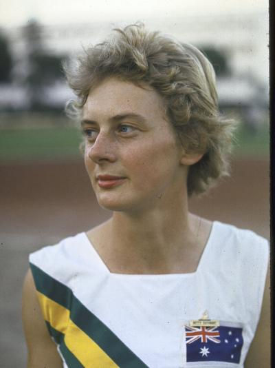 Australian Track Star Betty Cuthbert at Summer Olympics--Premium Photographic Print