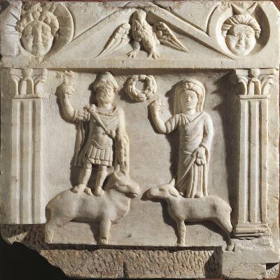 Austria, Aedicula with Jupiter and Juno, Limestone--Giclee Print
