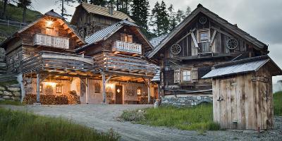 Austria, Carinthia, Katschberg, Cabins, Old, Rustic-Rainer Mirau-Photographic Print