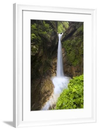 Austria, Carinthia, Ragga-Gorge, Waterfall, Rocks-Rainer Mirau-Framed Photographic Print