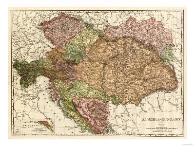 Austria-Hungary - Panoramic Map-Lantern Press-Art Print