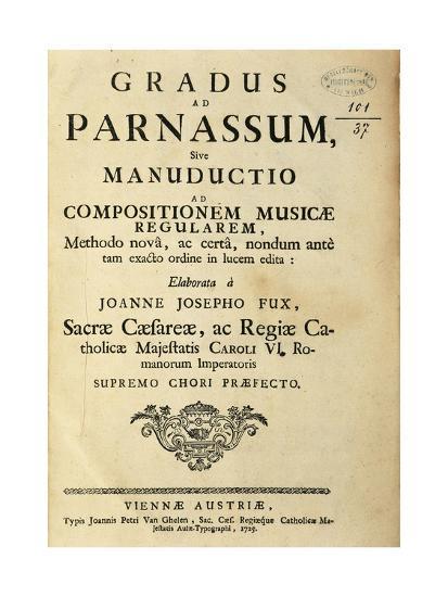 Austria, Johann Joseph Fux, Frontispiece of Gradus Ad Parnassum, 1725--Giclee Print