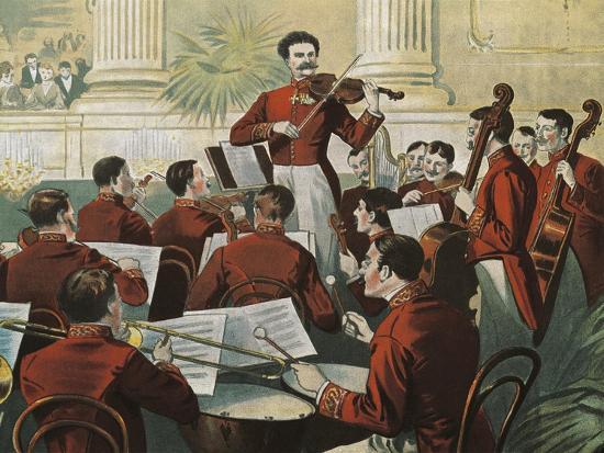 Austria, Johann Strauss--Giclee Print