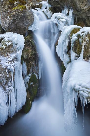 Austria, Lower Austria, Miraf?lle (Waterfall), Winter-Rainer Mirau-Photographic Print