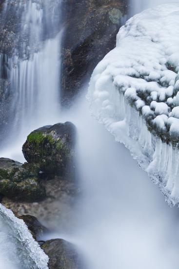 Austria, Lower Austria, MirafŠlle (Waterfall), Winter-Rainer Mirau-Photographic Print