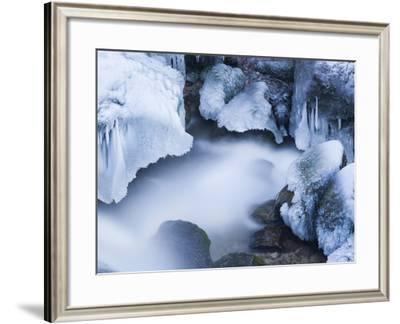 Austria, Lower Austria, MirafŠlle (Waterfall), Winter-Rainer Mirau-Framed Photographic Print