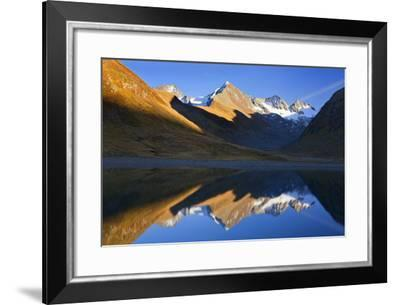 Austria, Obergurgl, Red Moss Valley, Lake, Mountains, Mirroring,-Ludwig Mallaun-Framed Photographic Print