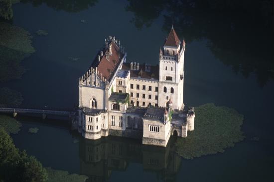Austria, Salzburg, Anif Castle, 16th Century, Aerial View--Giclee Print
