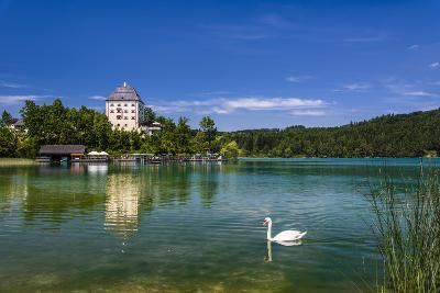 Austria, Salzburg Country, Salzkammergut, Fuschl Am See, Lake Fuschlsee, Castle Fuschl-Udo Siebig-Photographic Print