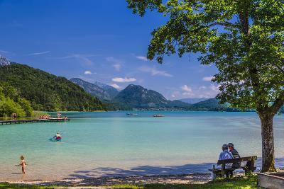 Austria, Salzburg Country, Salzkammergut, Fuschl Am See, Lake Fuschlsee, West Bank, Natural Beach-Udo Siebig-Photographic Print