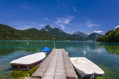 Austria, Salzburg Country, Salzkammergut, Fuschl Am See, Lake Fuschlsee, West Shore Against Stack-Udo Siebig-Photographic Print