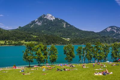 Austria, Salzburg Country, Salzkammergut, Fuschl Am See, Lake Fuschlsee-Udo Siebig-Photographic Print