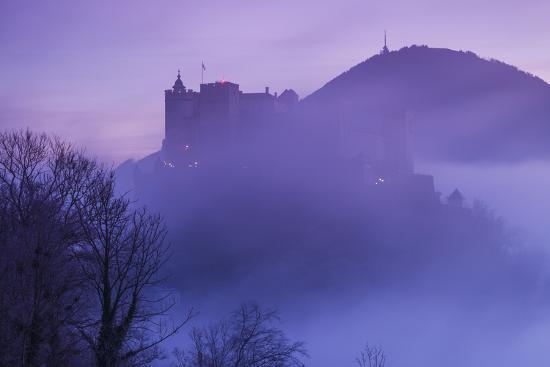 Austria, Salzburg, Festung Hohensalzburg Castle-Walter Bibikow-Photographic Print