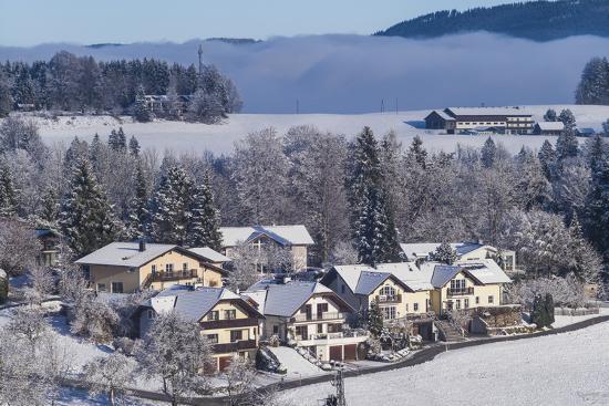 Austria, Salzburgerland, Hof bei Salzburg, winter landscape-Walter Bibikow-Photographic Print