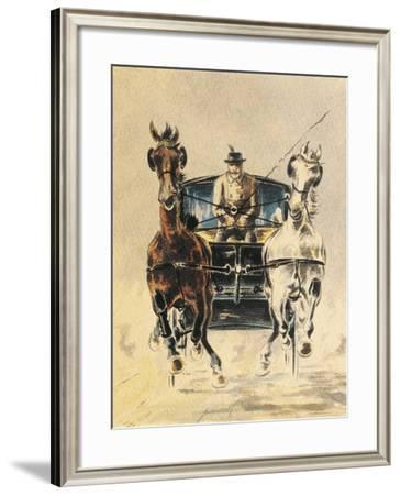 Austria, Stagecoach Travel--Framed Giclee Print