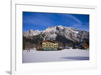 Austria, Styria, Ramsau am Dachstein, Dachstein Mountains-Walter Bibikow-Framed Photographic Print
