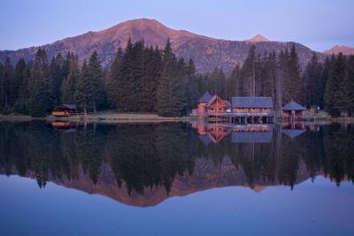 Austria, Styria, Rottenmanner Tauern, Lake, Shore, Framehouses, Mountain Scenery, Panorama-Rainer Mirau-Photographic Print