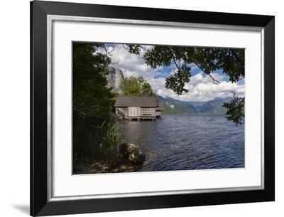 Austria, Styria, Salzkammergut (Resort), Grundlsee (Districtity), Boathouse-Gerhard Wild-Framed Photographic Print
