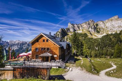 Austria, Tyrol, Achensee Region, Rofangebirge (Mountains), Maurach (Village) at the Achensee-Udo Siebig-Photographic Print