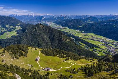 Austria, Tyrol, Rofan (Mountains), Kramsach (Village), View from Rosskogel on Inntal-Udo Siebig-Photographic Print
