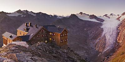 Austria, Tyrol, …tztaler Alps, Ramolhaus, Mountain Hut-Rainer Mirau-Photographic Print