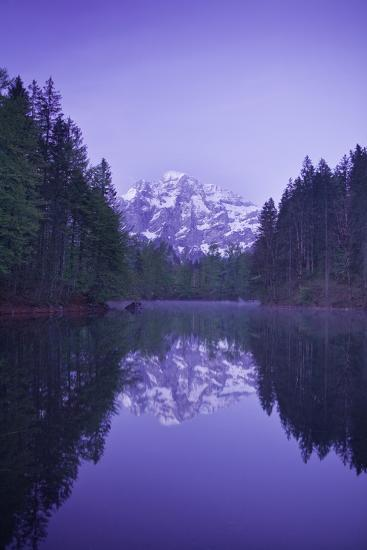 Austria, Upper Austria, Almtal (Valley), Gro§er …dsee (Lake), Gro§er Priel (Lake-Rainer Mirau-Photographic Print