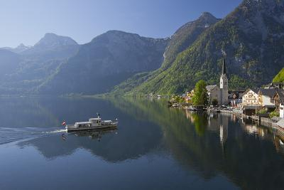 Austria, Upper Austria, Hallstatt, Ferry, Salzkammergut (Region)-Rainer Mirau-Photographic Print