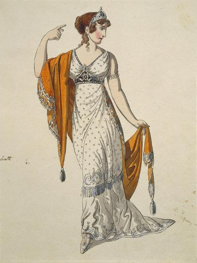 Austria, Vienna, Costume Sketch for Performance the Clemency of Titus--Giclee Print