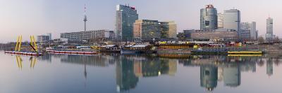 Austria, Vienna, Donau-City, Donau-City, City View, Evening-Mood, Danube, Panorama-Rainer Mirau-Photographic Print