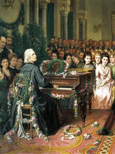 Austria, Vienna, Franz Lisz Playing Piano before the Imperial Family--Giclee Print