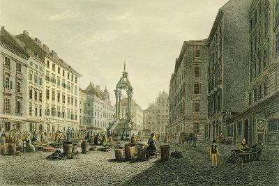 Austria, Vienna, Hoher Markt with Wedding Fountain in Middle--Giclee Print