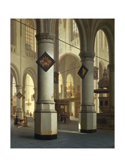 Austria, Vienna, Painted Image of Oude Kerk--Giclee Print