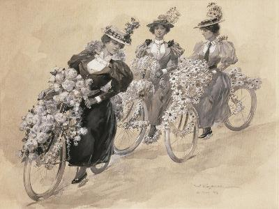 Austria, Vienna Painting of the Bicycle Ride--Giclee Print