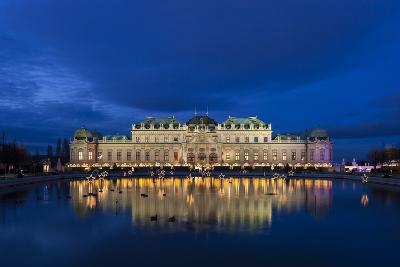 Austria, Vienna, Palace Belvedere, Christmas Market, Christmas Lighting-Gerhard Wild-Photographic Print