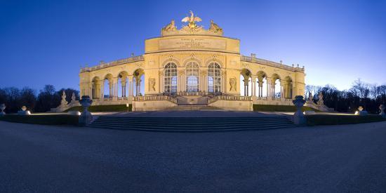 Austria, Vienna, Palace Schšnbrunn, Palace-Park, Gloriette, Buildings, Evening-Mood, Panorama-Rainer Mirau-Photographic Print