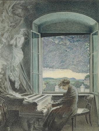 Austria, Vienna, Pastel Portrait of Ludwig Van Beethoven--Giclee Print