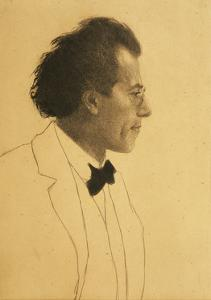 Austria, Vienna, Portrait of Composer Gustav Mahler