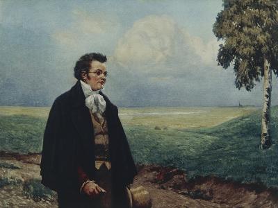 Austria, Vienna, Portrait of Franz Peter Schubert in Viennese Countryside--Giclee Print