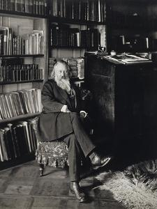 Austria, Vienna, Portrait of German Composer, Pianist and Conductor, Johannes Brahms in Home