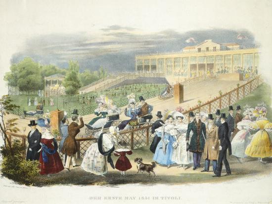 Austria, Vienna, Schonbrunn Palace, Wheelchairs Race at Tivoli Pavilion, 1831--Giclee Print