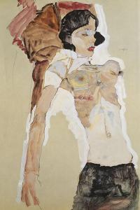 Austria, Vienna, Seminude Female Figure