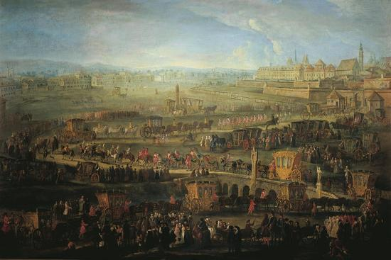 Austria, Vienna, the Parade of French Ambassadors, Marquis Mirepoix in Vienna, October 12, 1738--Giclee Print