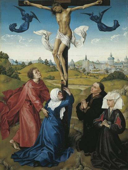 Austria, Vienna, Triptych of the Crucifixion, 1440, Detail the Crucifixion, Central Panel--Giclee Print