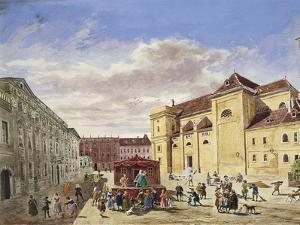 Austria, Vienna, View of Freyung Square Painting