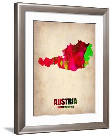 Austria Watercolor Poster-NaxArt-Framed Art Print